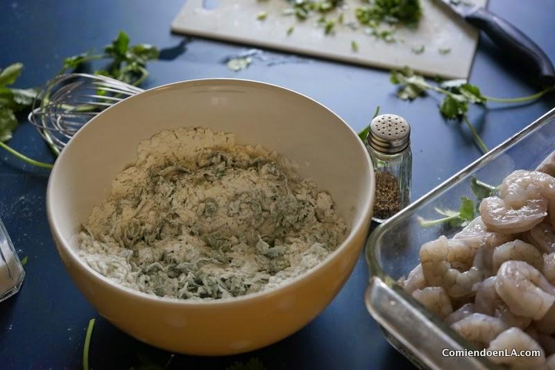 Receta de Camarones en salsa Chipotle