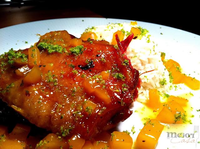 Confit de pato con bigarrada de mango restaurante a domicilio Mejor en casa