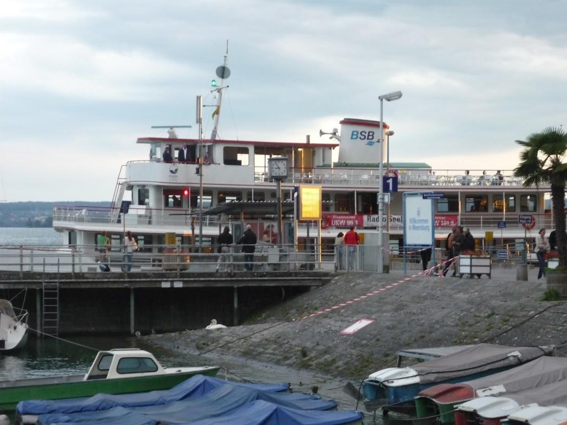 Schiffsanlegestelle in Meersburg