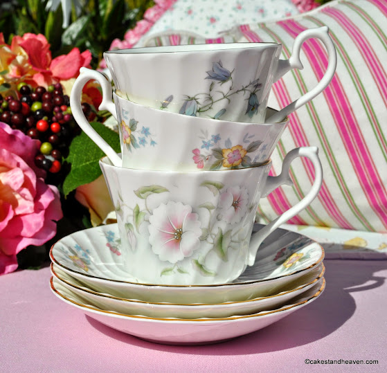 Royal Burlington Fine China Teacups and Saucers