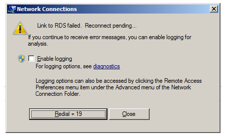 Link to RDS failed Link to RDS failed