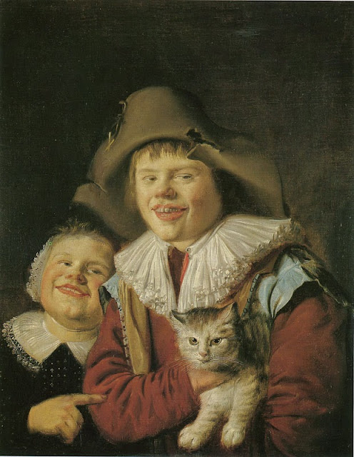 Jan Miense Molenaer - Children Playing with a Cat
