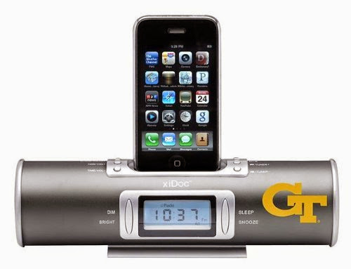NCAA Georgia Tech Yellow Jackets XiDoc iPod Docking Station/Clock Radio