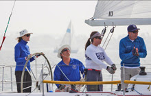 J/105 Masters- Sally and Stan Honey sailing in San Diego
