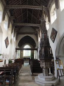 The large font cover in Ufford church