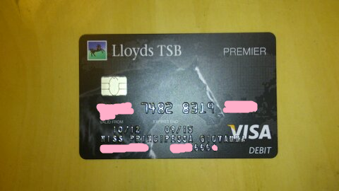 Miss Finally got my card in my new name