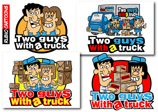 TWO GUYS EARN THEIR LIVING WITH A TRUCK