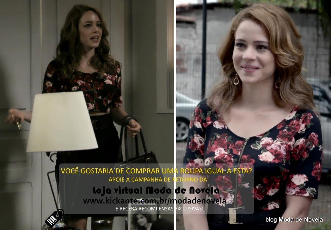 moda da novela Império, look da Cristina dia 7 de fevereiro de 2015