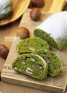 日式抹茶紅豆栗子麵包