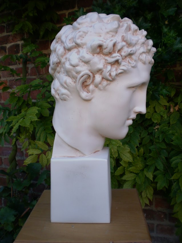 a12 grand buste statue hermes dieu mythologie grecque ht 49 cm. Black Bedroom Furniture Sets. Home Design Ideas