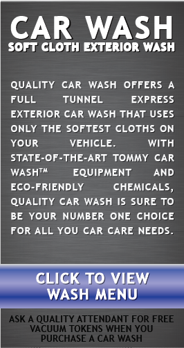 Click to view exterior car wash menu.