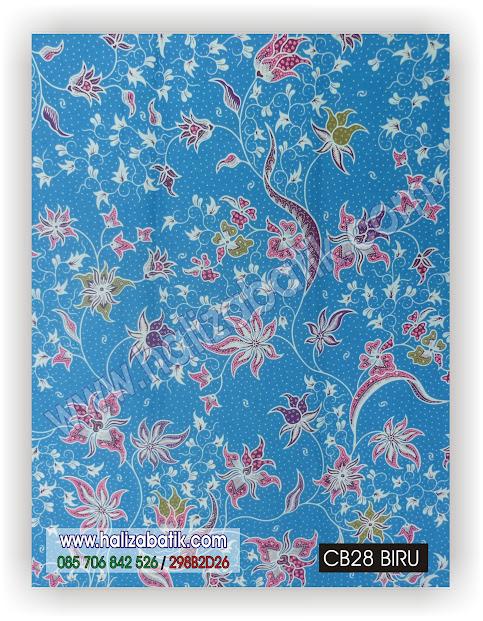 Baju Batik Modern, Baju Batik Wanita, Jual Kain Batik, CB28 Biru