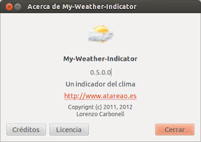 Yahoo y Underground aterrizan en My-Weather-Indicator