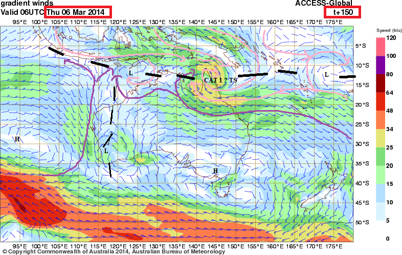 coral sea low landfall 28th feb 2014
