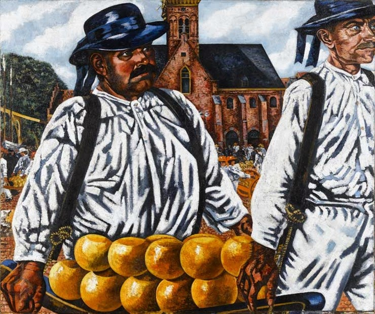 Charley Toorop - Kaasmarkt van Alkmaar, 1932