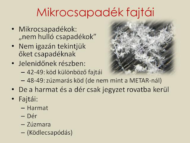 Mikrocsapadékok fajtái