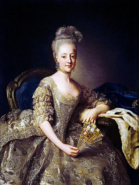 Alexander Roslin - Hedvig Elisabeth Charlotte of Holstein-Gottorp