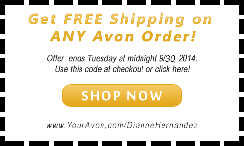 Click to add Free Shipping Coupon to you Avon Shopping Cart.