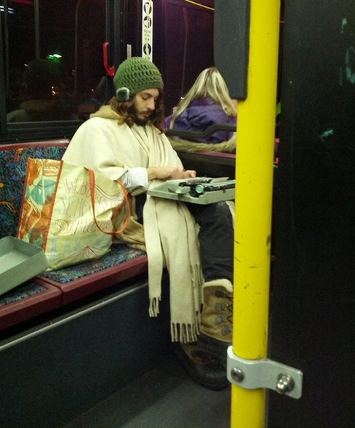 He has achieved max hipster