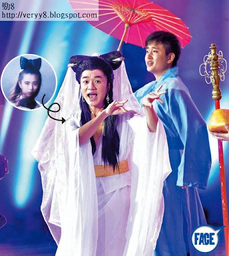 祖藍扮小倩咁重口味,但深圳觀眾好受落,成為全晚高潮位。