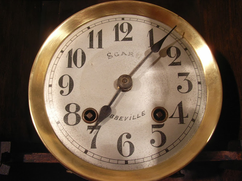 antik wall clock french regulator marque deposee ebay. Black Bedroom Furniture Sets. Home Design Ideas