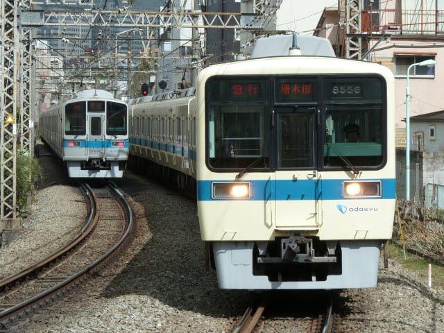 小田急電鉄 急行 唐木田行き3 8000形(東京電力計画停電に伴う運行)