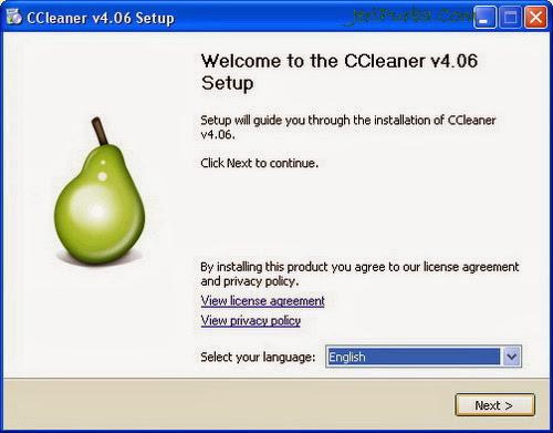 Cara Instal CCleaner 4.06.4324