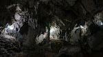 Stalagtites are everywhere inside the caves.