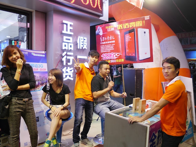 Hongmi smartphone promotion in Nanping, Zhuhai, China