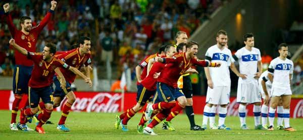 Penaltis, España-Italia