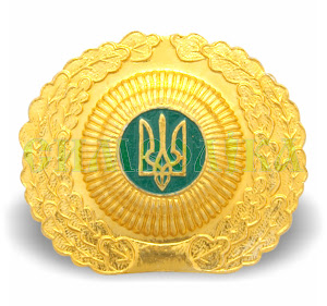 Кокарда ДЛО середня золота металева