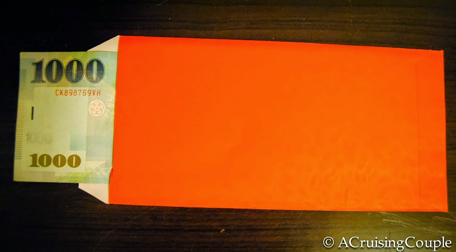 Red envelope in Taiwan - perfect for a wedding gift! From 9 Cultural Faux Pas to Avoid in Taiwan