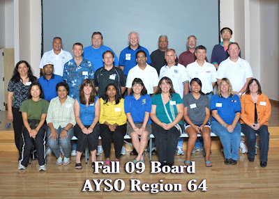 AYSO Region 64 Board, Fall 2009