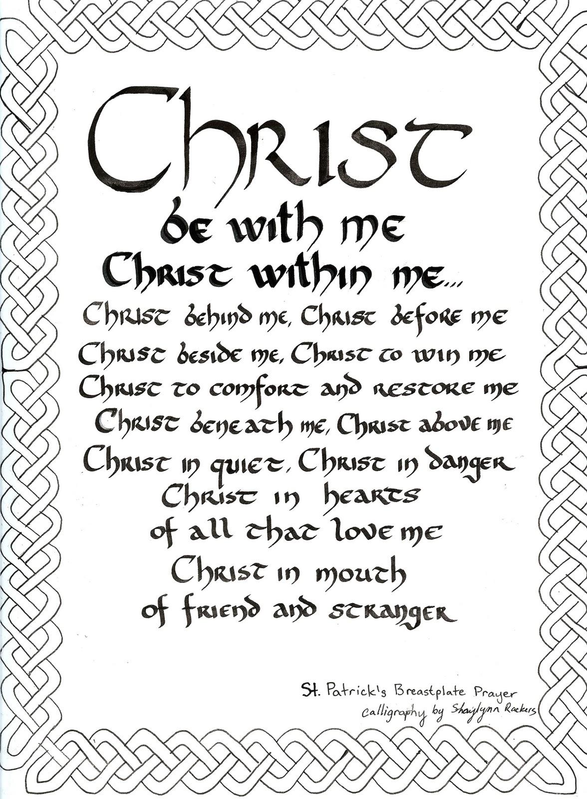 st  patrick u0026 39 s prayer  celtic knotwork