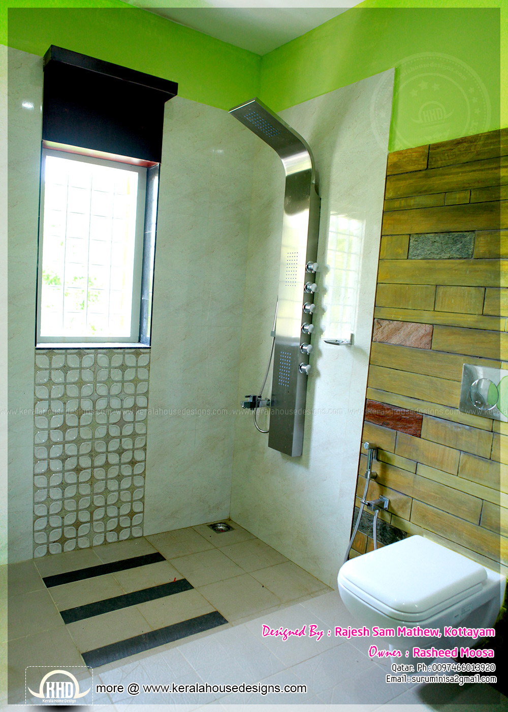 Kerala interior design with photos kerala home design for Latest bathroom interior