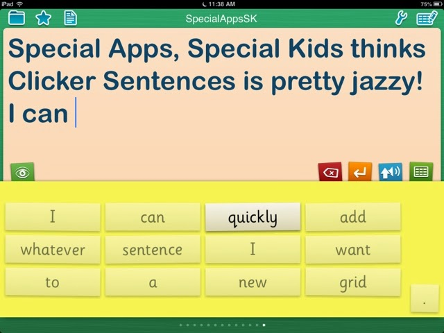 Special Apps, Special Kids: REVIEW: Clicker Sentences by Crick Software