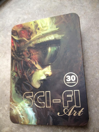 Sci-Fi Art Postcard Book