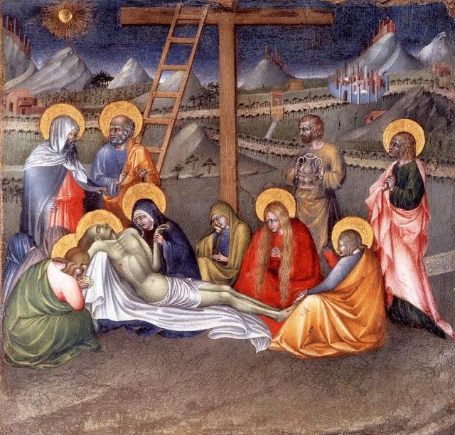 Giovanni di Paolo - Lamentation over the Dead Christ