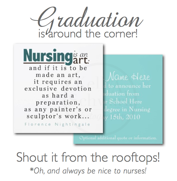 Nursing School Graduation Announcements on SALE Kelly Schwark