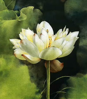 Poetry poem of Alka Pandya, white lotus painting