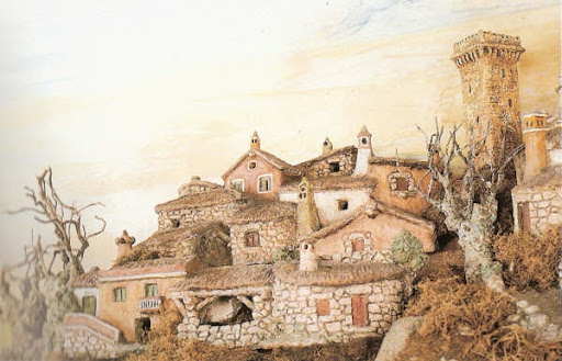Belen de Baltar: vista de las casas de la parte alta del pueblo
