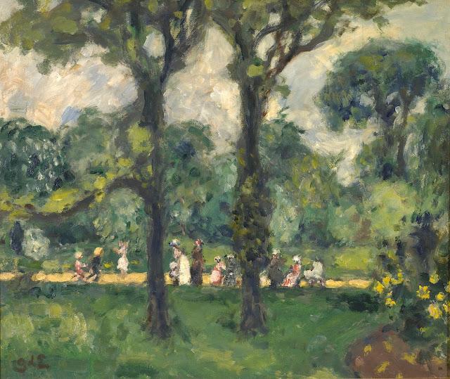 Le jardin du luxembourg en 1895 par f lix vallotton la for Le jardin luxembourg