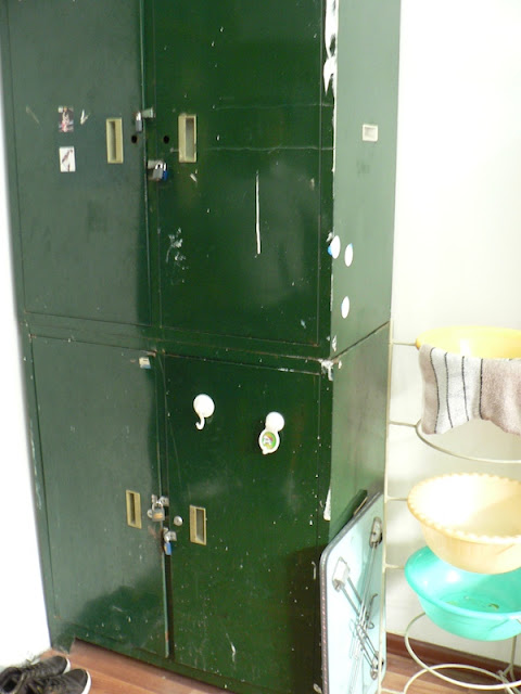 storage unit in a dorm room at Dalian Maritime University in China