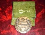 Medalla Unidroco 25 aniversario