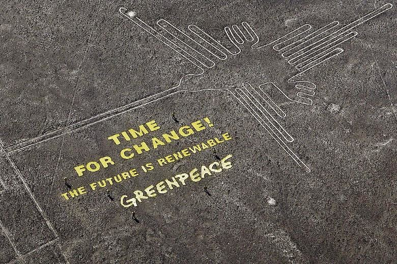 Peru: Greenpeace apologizes for protest at Peru's Nazca Lines