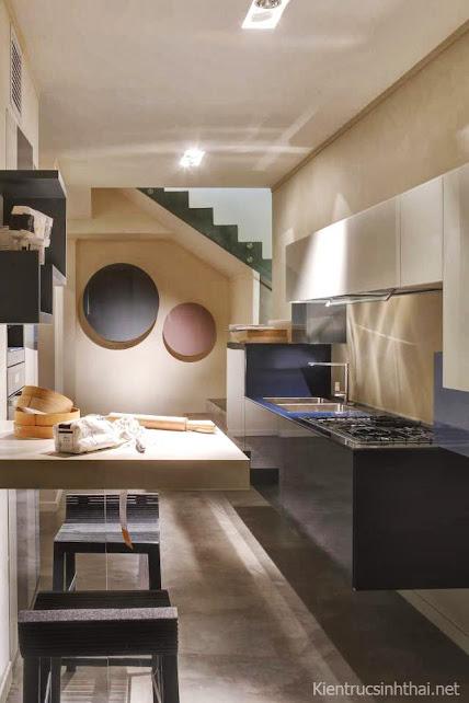 Thiết kế phòng bếp, ăn trong không gian rất hẹp
