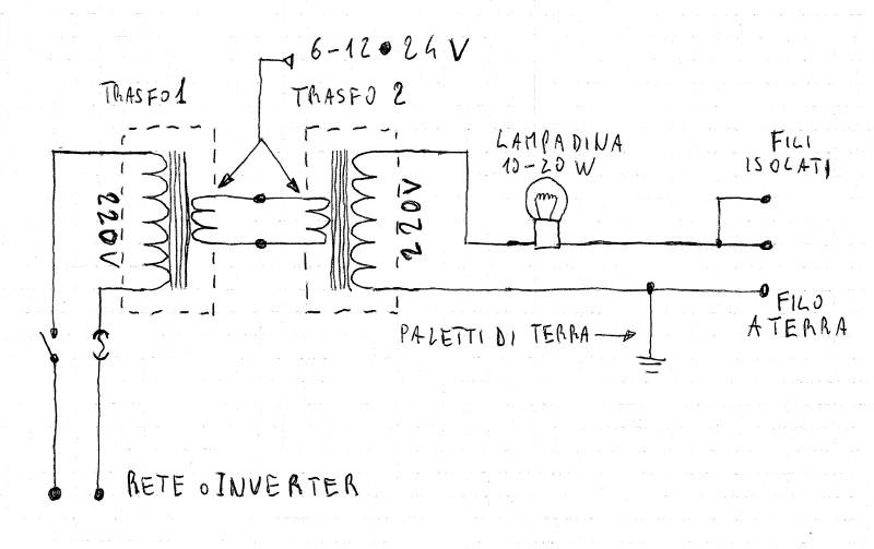 Schema Elettrico Ultrasuoni Per Cani : Elettrificatore schema elettrico
