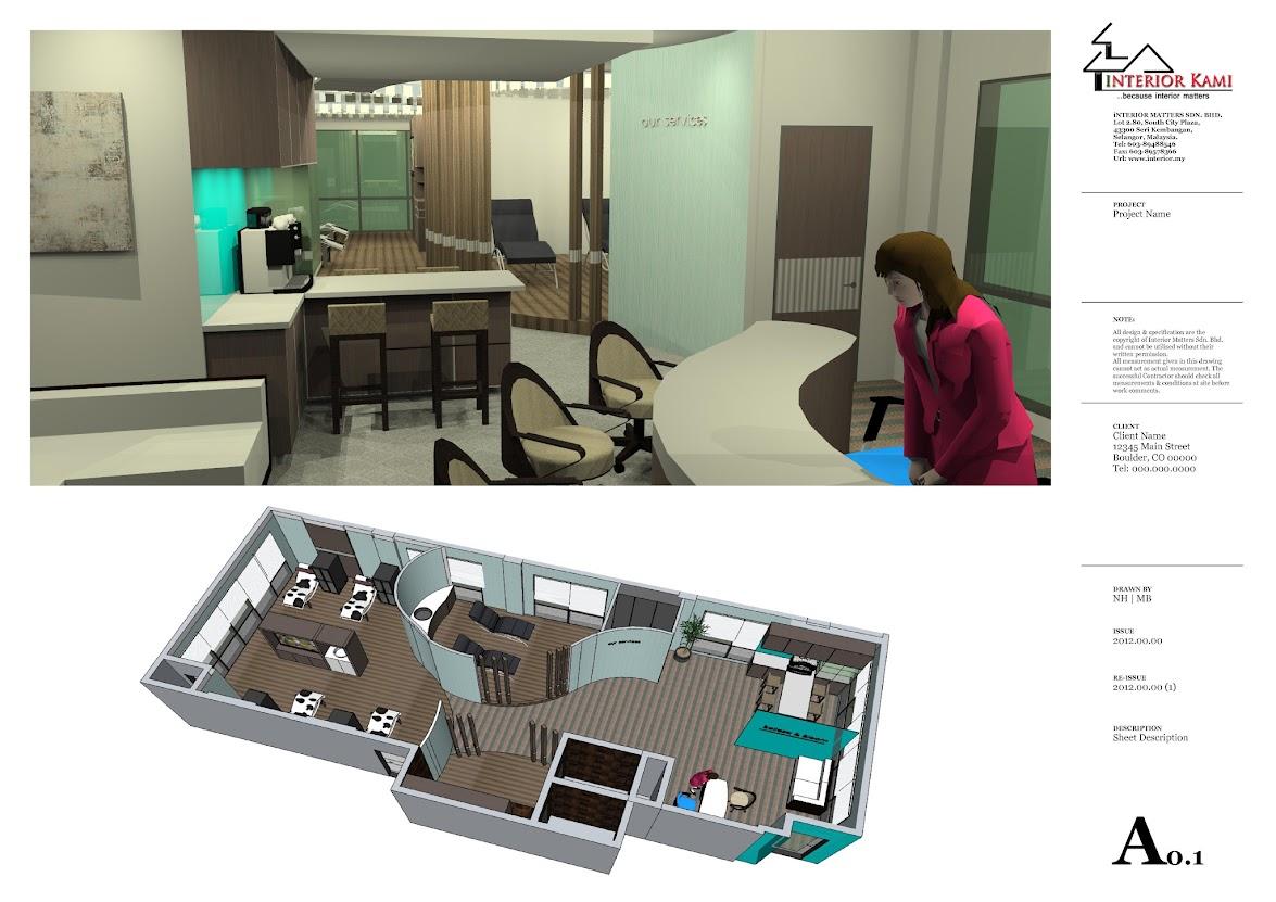perspective reception area