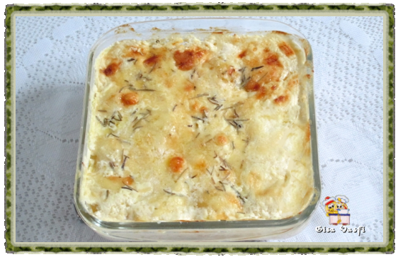 Batatas gratinadas com creme de leite 1