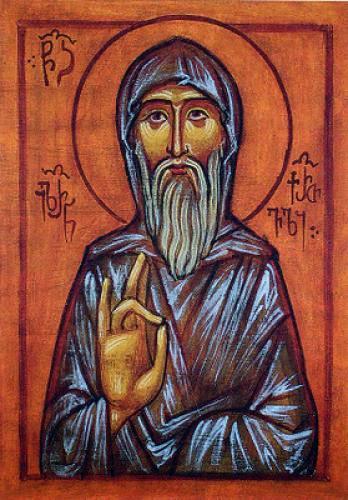 Venerable Hilarion The Monk And Wonderworker Of Thessalonica Georgian